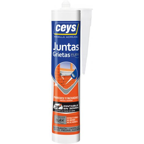 SILICONA CARTUCHO GRIETAS PINT CEYS 280 ML