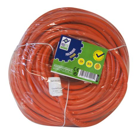PROLONGADOR JARDIN 25MT NARANJ PROFER G 3X1.5 MM
