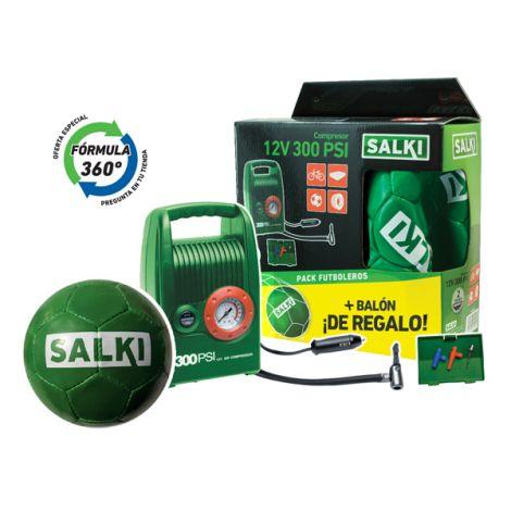 MINI COMPRESOR COCHE +BALON SALKI 12 V