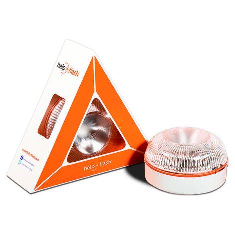 LUZ EMERGENCIA COCHE V-16 HELP FLASH 86X52 MM