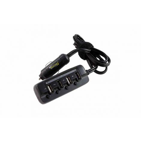 CARGADOR COCHE 4 USB BOTTARI