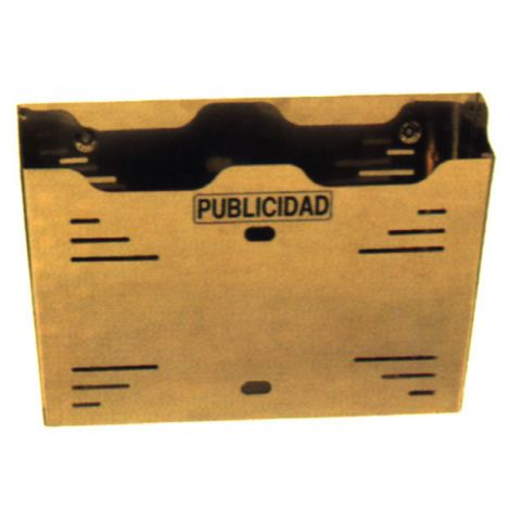 BUZON PUBLICIDAD NEGRO BTV 12 36 CM