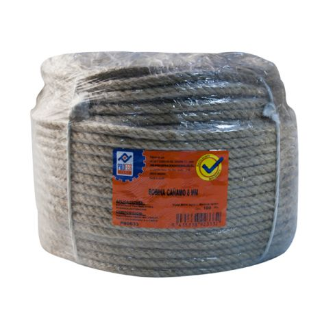 CUERDA CAÑAMO 4 C. BOBINA 8 MM PROFER HOME 100 M