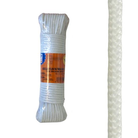 CUERDA NYLON TRENZADO 4 MM BCO PROFER HOME 10 M