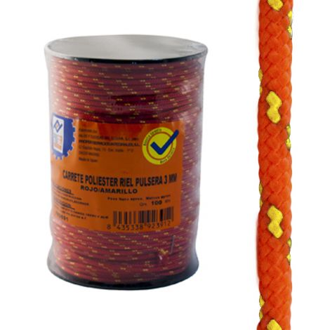CUERDA PS PULSERA 3MM ROJO/AMA PROFER HOME 100 M