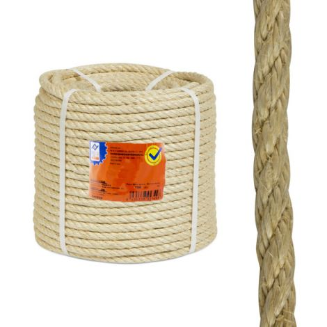 CUERDA SISAL 4 C. BOBINA 10 MM PROFER HOME 100 M
