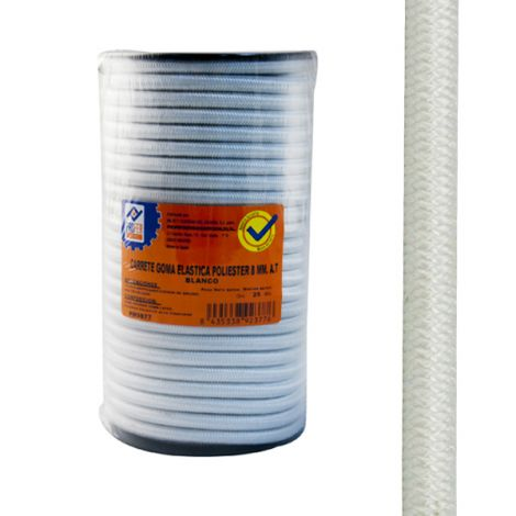 GOMA ELASTICA CARRE.10MM BLANC PROFER HOME 100 M