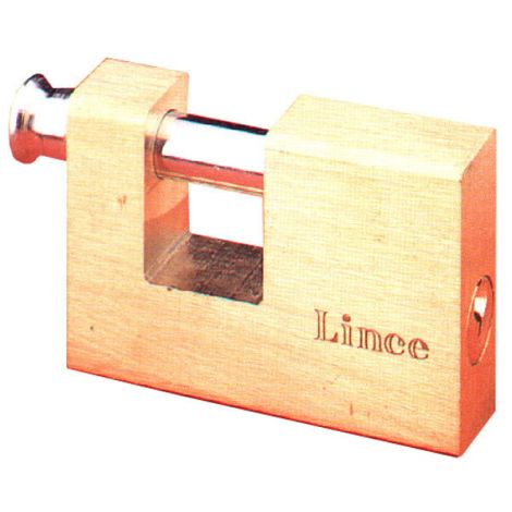 CANDADO LATON RECTANGULAR LINCE 70 MM