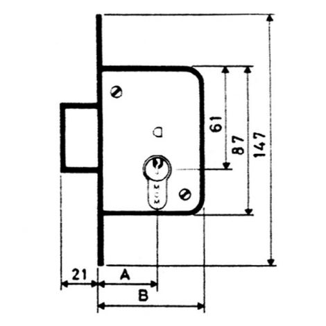 CERRADURA EMBUTIR F/ LATON MCM 35 MM