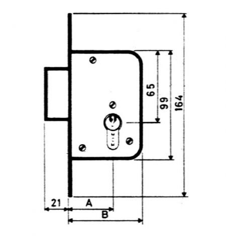 CERRADURA EMBUTIR F/ LATON MCM 40 MM