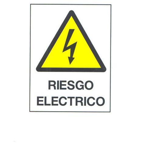 SEÑAL FIJA PVC RIESGO ELECTRIC CV 40X30 CM