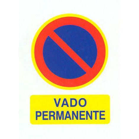 SEÑAL FIJA PVC VADO PERMANENTE CV 40X30 CM