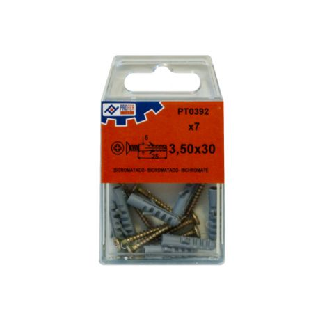 TACO 5+TIRAFONDO 3.5X30 C/7 PZ PROFER TOP