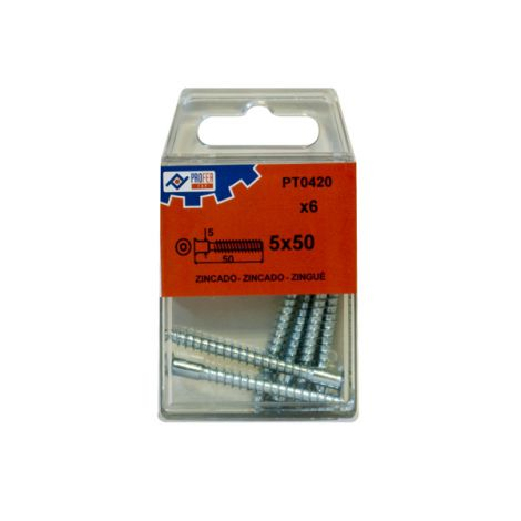 TORNILLO ENSAMBLAR ZN C/6 PZS PROFER TOP 5X50 MM