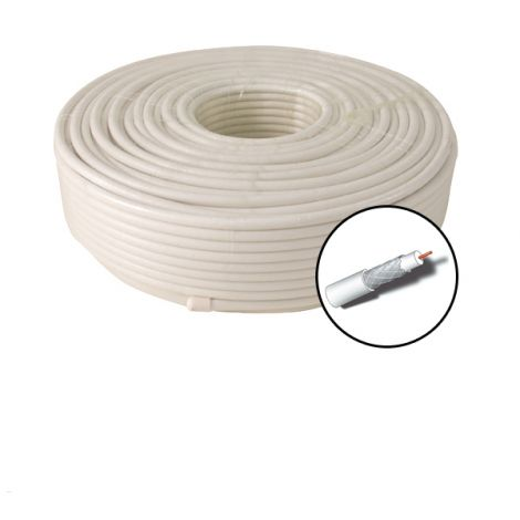 CABLE COAXIAL CU+AL CARRETE PROFER HOME 100 M