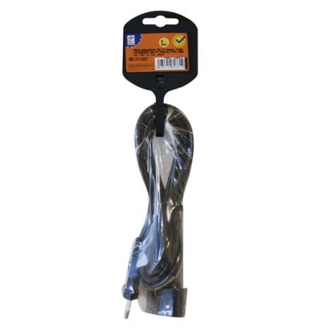 PROLONGADOR CABLE 2M NEG 10A PROFER H 2X1 MM