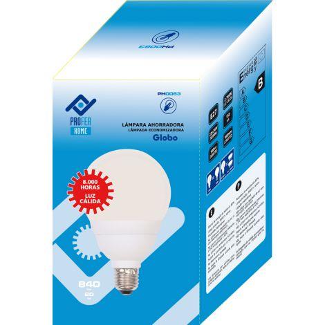 LAMPARA B CONSUMO GLOBO PROFER H 20W E27 D
