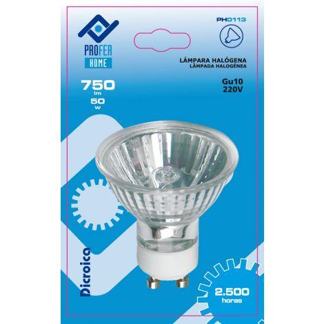LAMPARA DICROIC GU10 220V 38º PROFER H 50 W