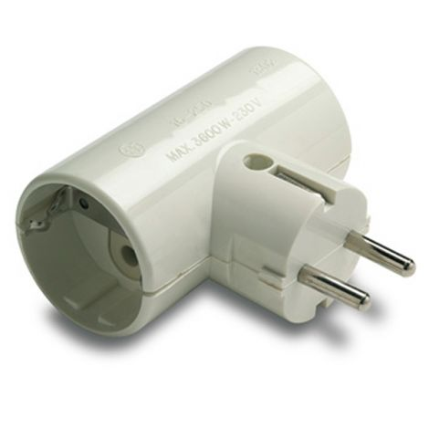 ADAPTADOR DOBLE TT CERAMIC 16A FAMATEL