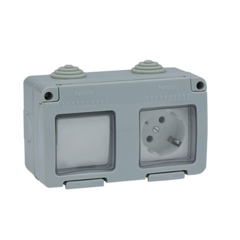 INTERRUPTOR BASE TT ESTAN IP55 FAMATEL 16 AMP