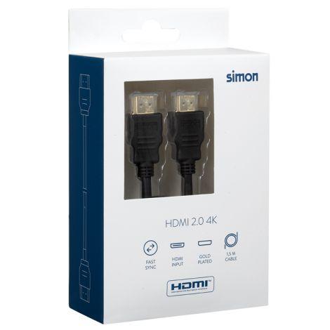 CABLE HDMI 2.0 4K SIMON 1.50 M