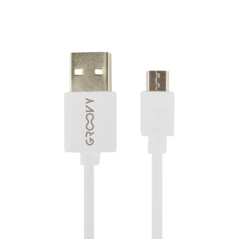 CABLE CARGADOR MICRO USB BCO GROOVY 1 M