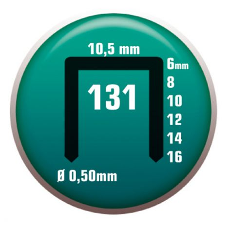 GRAPA 131/10-13/10 C/5000 CLAVEX 10 MM