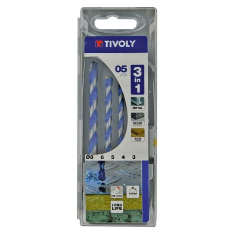 BROCAS MULTIMATERIAL JGO. 5 TIVOLY 3-8 MM