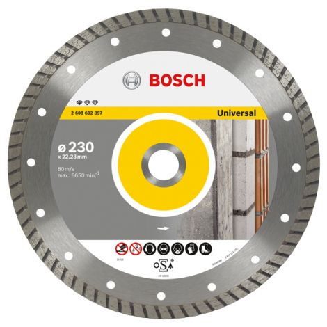 DISCO DIAMANTE TURBO UNIVERSAL BOSCH 115 MM