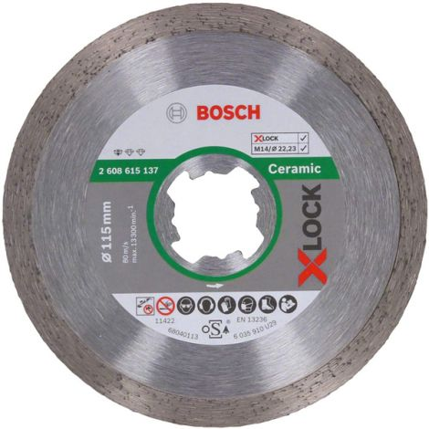 DISCO DIAMANTE UNIVERSAL XLOCK BOSCH 115 MM