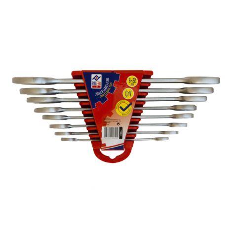 LLAVE FIJA 2 BOCAS JGO 8 PZ PROFER TOP 6-22 MM
