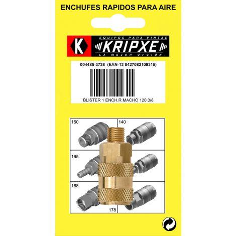 ENCHUFE RAPIDO MACHO BL.1 KRIPXE 3/8