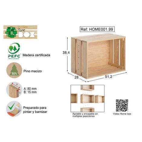 CAJA PINO S/BARN HOME BOX ASTIGARRAGA 51X38X28