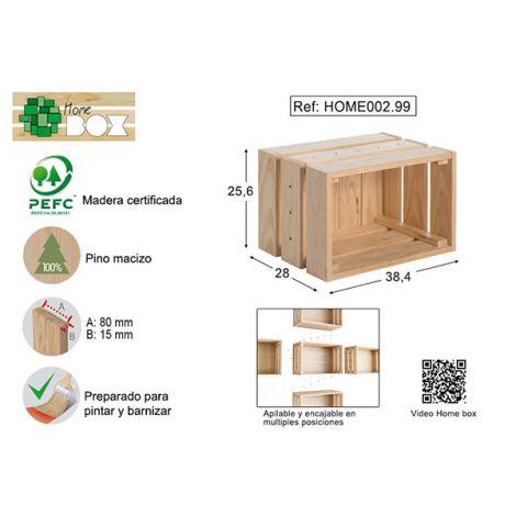 CAJA PINO S/BARN HOME BOX ASTIGARRAGA 38X26X28