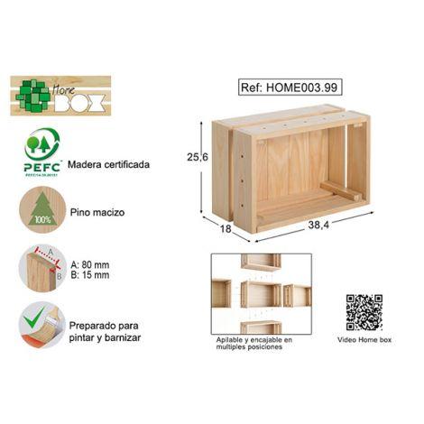 CAJA PINO S/BARN HOME BOX ASTIGARRAGA 38X17X28