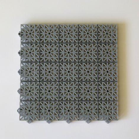 LOSETA MODULAR SUELO GRIS INERFLEX 33X33X2 CM