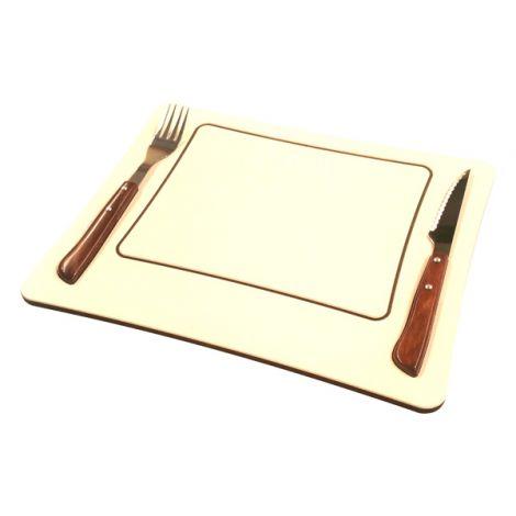TABLA CARNE C/CUBIERTOS MADERA ATEMPO 32X25 CM
