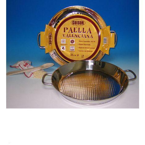 PAELLERA VALENCIANA INOX VITRO GUISON 28 CM