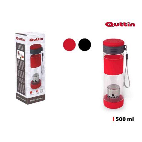 BOTELLA INFUSIONES PLASTICO QUTTIN 500 ML