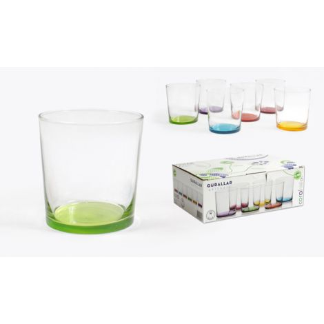 VASO SIDRA PINTA COLOR PACK 6 GURALLAR 34 CL