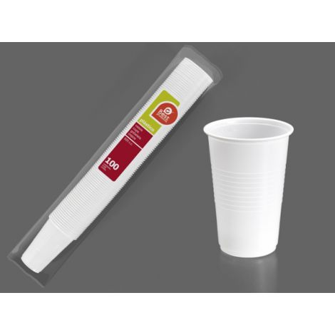 VASO DESECHABLE BLANCO B/100 BEST 220 CM3