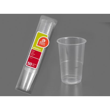 VASO DESECHABLE TRANSPARE B/50 BEST 250 CM3