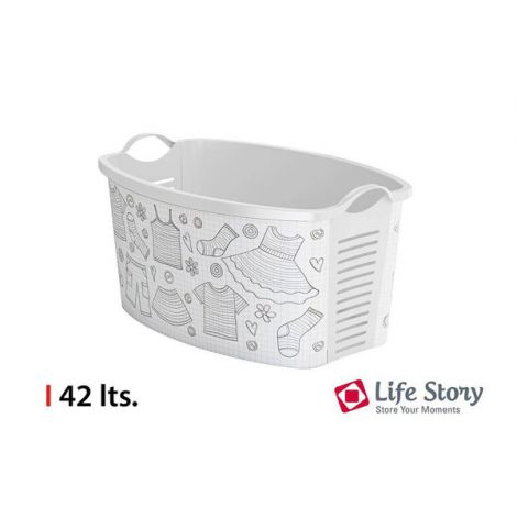 CESTA ROPA BLANCO LIFE STORY 42 L