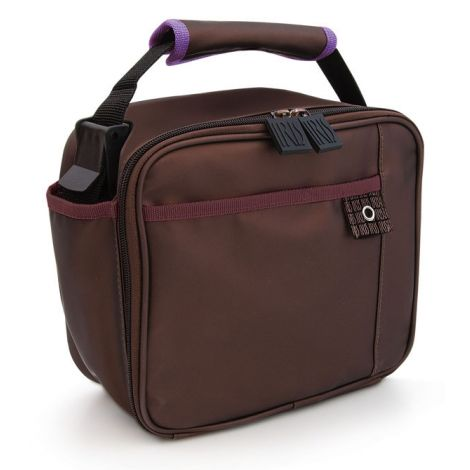 BOLSA MINI LUNCHBOX MARRON IRIS 18.5X21X11