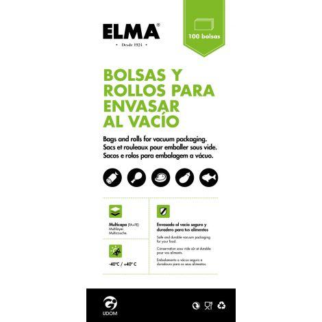 BOLSA ENVASADO VACIO PAQ.100 ELMA 20X30 CM