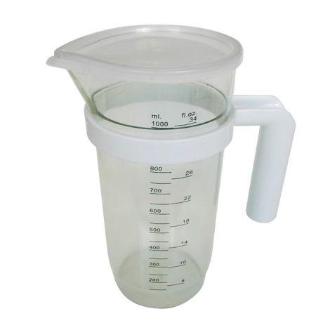 JARRA MEDIDORA PLASTICO C/TAPA TECNHOGAR 1.2 L