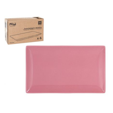 FUENTE RECTANGULAR ELITE ROSA  13X20 CM