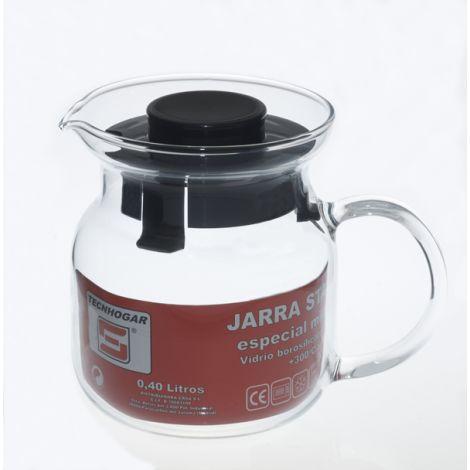 JARRA CRISTAL MICROONDAS VITRO TECNHOGAR 0.40 L