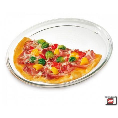 PLATO PIZZA BOROSILICATO TECNHOGAR 32 CM
