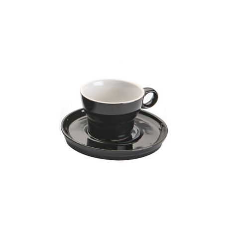 TAZA CAFE C/PLATO NEGRO VERSA 9 CL